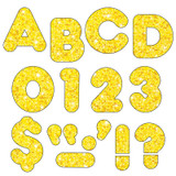 """Yellow Sparkle 3"""" Casual UC Ready Letters¨"""