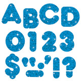 """Blue Sparkle 3"""" Casual UC Ready Letters¨"""