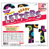 """Swirl Dots on Black 4"""" Playful Combo Ready Letters¨"""