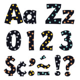 """Metal Dots 4"""" Playful Combo Ready Letters¨"""