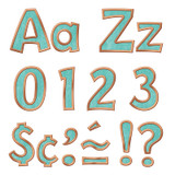 """Copper & Patina 4"""" Playful Combo Ready Letters¨"""
