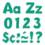 """Teal Sparkle 4"""" Playful Combo Ready Letters¨"""