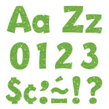 """Lime Sparkle 4"""" Playful Combo Ready Letters¨"""