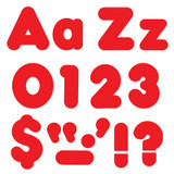 Red 4-Inch Casual Uppercase/Lowercase Combo Pack Ready Letters¨