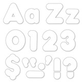 White 4-Inch Casual Uppercase/Lowercase Combo Pack Ready Letters¨
