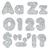 """Silver Sparkle 4"""" Casual Combo Ready Letters¨"""