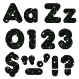 """Black Sparkle 4"""" Casual Combo Ready Letters¨"""