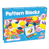 Rainbow Pattern Blocks, Magnetic, Assorted Colors, 100 Pieces