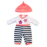 """Doll Clothes, Fits 12-5/8"""" Dolls, Cold Weather Salmon Pajamas"""