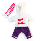 """Doll Clothes, Fits 12-5/8"""" Dolls, Cold Weather White Fur Set"""