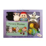 Nursery Rhymes Finger Puppets and Book Set