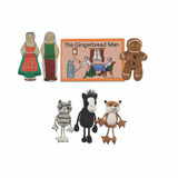 The Gingerbread Boy Finger Puppets and Book Set