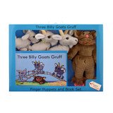The Three Billy Goats Gruff Finger Puppets and Book Set