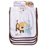 Terry Cloth Pullover Bibs - 4 Pack Cute Pets