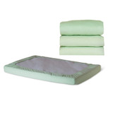 SafeFitª Elastic Fitted Sheet, Compact-Size, Mint
