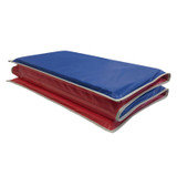 """Basic KinderMat, 1"""" Thick, Red/Blue with Gray Binding"""