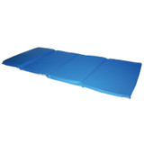 """Toddler KinderMat without Pillow, 3/4"""" Thick, Blue/Gray"""