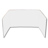 """Corrugated Privacy Shield, 18"""" x 48"""", White, Pack of 24"""