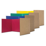 """Corrugated Privacy Shield, 18"""" x 48"""", Assorted Colors, Pack of 24"""
