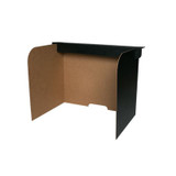 """Small Desktop Privacy Screen, 19"""" x 12"""" x 14"""", Pack of 24"""