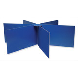 """Privacy Boards, Blue, Round Table Compatible, 48"""" Diameter x 14"""" High, 1 Board"""