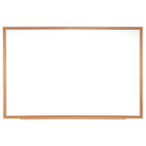"""Wood Frame Non-Magnetic Whiteboard, 24"""" x 36"""""""