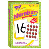 Numbers 0-25 Match Me¨ Cards
