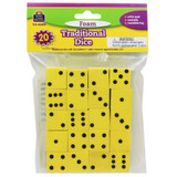 """Foam Traditional Dice, 0.75"""", Pack of 20"""