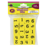 Foam Numbered Dice (1-6), Pack of 20