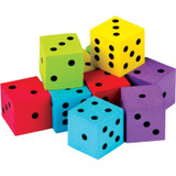 Foam Colorful Dice, Pack of 20