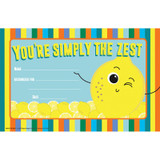 """Always Try Your Zest Recognition Award, 8 1/2"""" x 5 1/2"""", Pack of 36"""