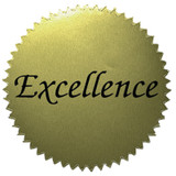 """2"""" Excellence Gold Stickers, 50 Per Pack"""