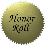 Gold Sticker-Honor Roll