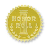Gold Foil Embossed Seals, Honor Roll