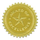 Gold Foil Embossed Seals, Award of Excellence