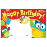 Happy Birthday Owl-Stars!¨ Recognition Awards, 30 ct