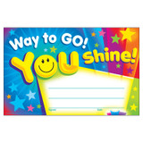 Way to Go! You Shine! Recognition Awards, 30 ct