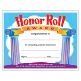 Honor Roll Award Colorful Classics Certificates, 30 ct