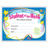 Student of The Week Colorful Classics Certificates, 30 ct