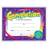 Certificate of Completion Colorful Classics Cert's., 30 ct