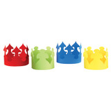 Bright Tag Crowns, Pack of 24