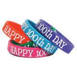 Happy 100th Day Wristband Pack, 10/pkg