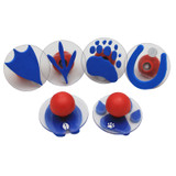 Giant Stampers, Paw Prints, Set of 6