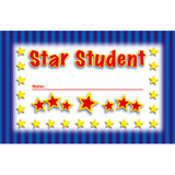 Incentive Punch Cards, Star Student