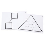 Write-On/Wipe-Off Fact Family Triangle Mat, Addition, Pack of 10