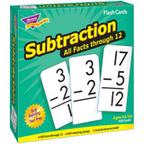 Subtraction 0-12 All Facts Skill Drill Flash Cards