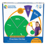 Double-sided Magnetic Fraction Circles, Pack of 9