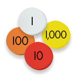 4-Value Whole Numbers Place Value Discs, 100 Discs