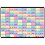 """Smart Poly» Learning Mat, 12"""" x 17"""", Double-Sided, Division"""