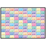 """Smart Poly» Learning Mats, 12"""" x 17"""", Double-Sided, Division, Pack of 10"""